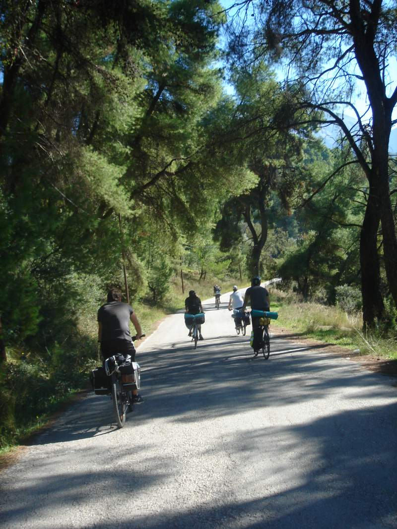 after sailing, take a bicycle and get know of fruitful paths on the Ionian